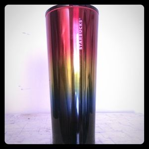 2/$55 Rainbow Stainless Steel 24 Starbucks Cup NEW